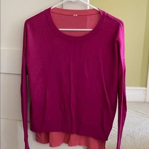 Bright pink reversible sweater